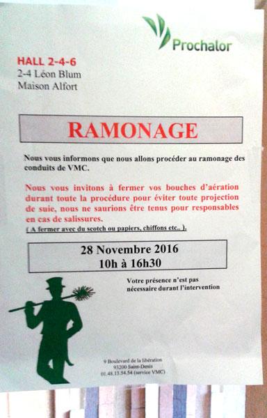 Contrôle VMC nov. 2016 PROCHALOR