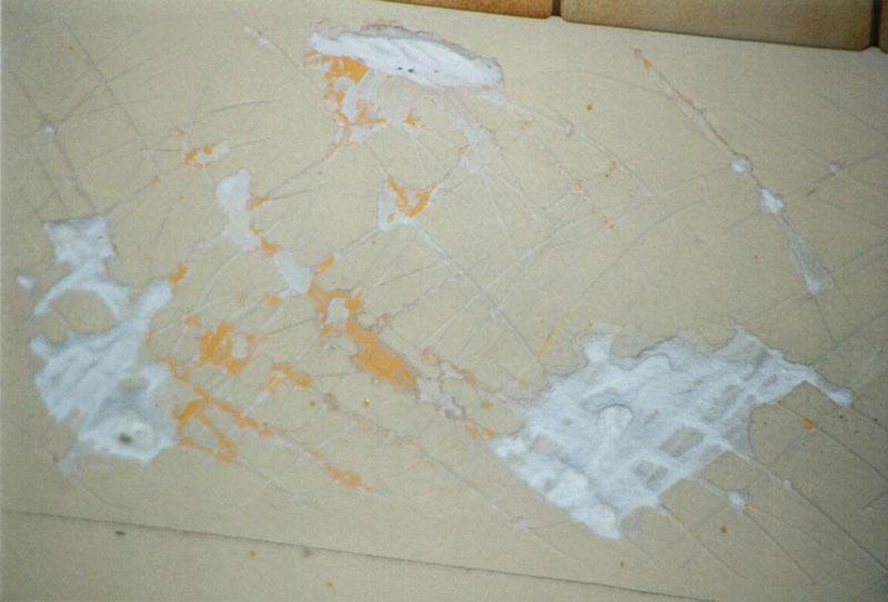 cloison avec plâtre descellé – cuisine