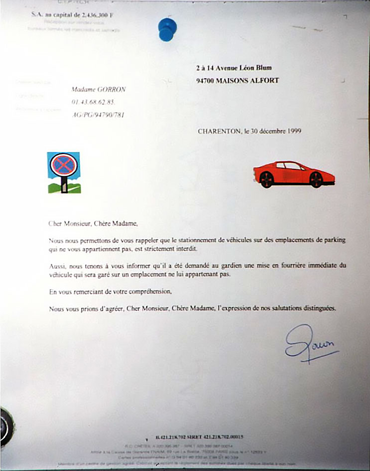 lettre-bidon du 30 décembre 1999